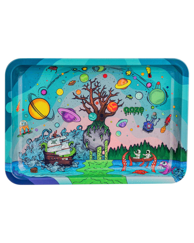 "Ooze Rolling Tray with ""Tree of Life"" Design in Small"