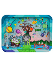 "Ooze Rolling Tray with ""Tree of Life"" Design in Medium"