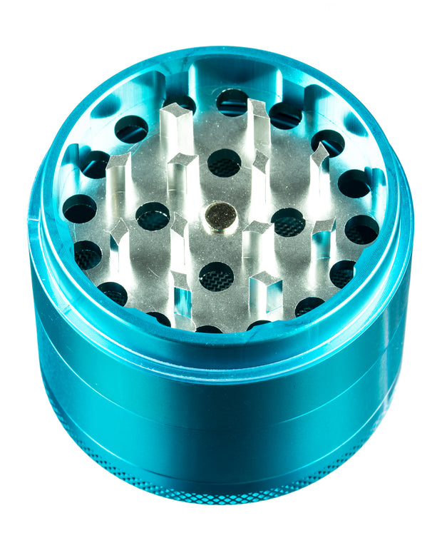4-Piece Medium Diamond Teeth Clear Top Aluminum Grinder