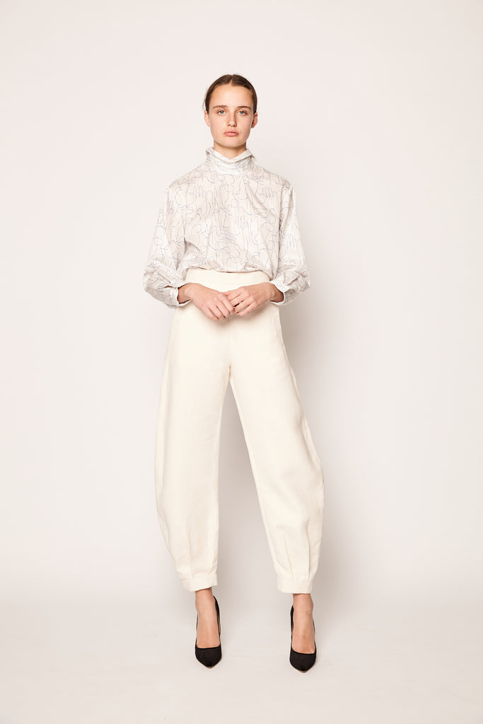 The Mira Trouser Chalk