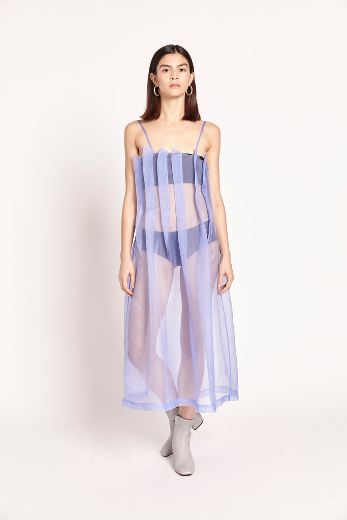 Daphne Dress - Blue Lavender Organza