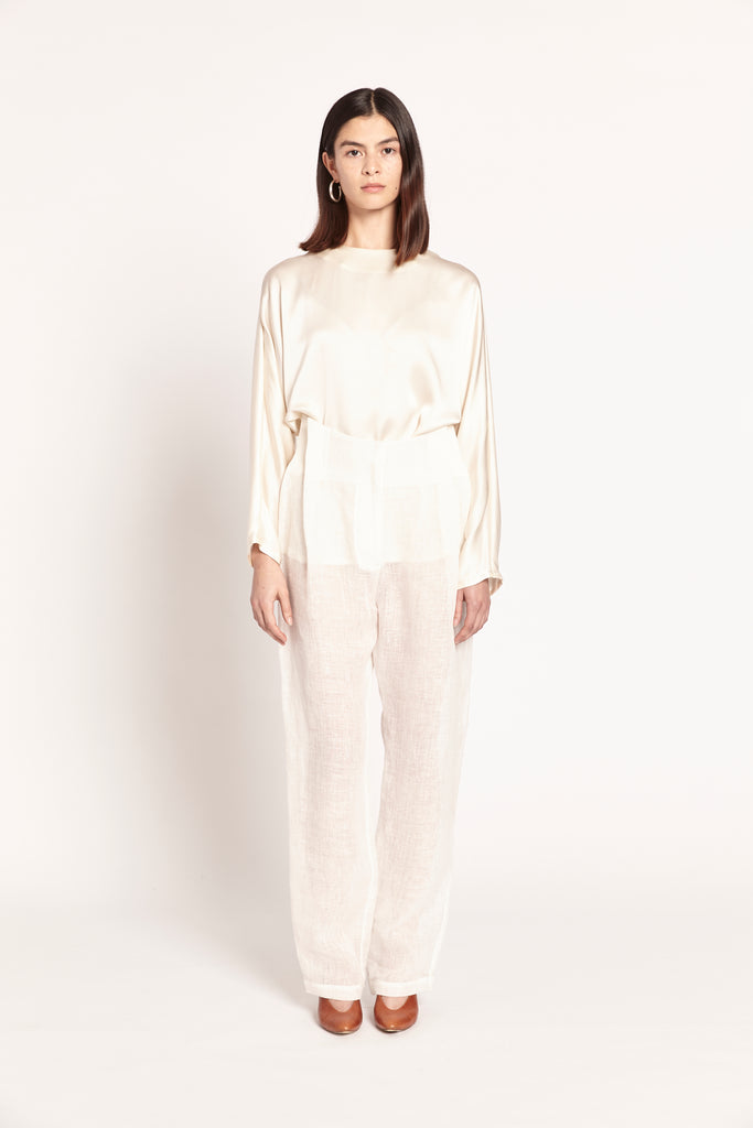 Pleated Pant - Linen Gauze