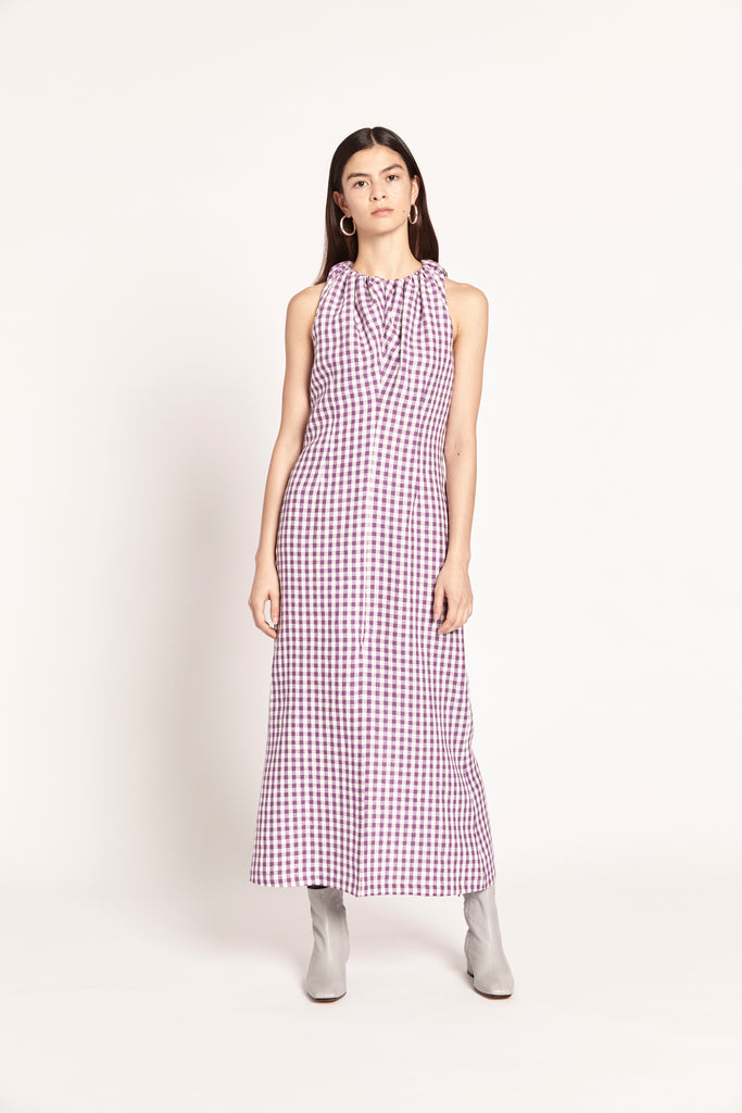 Sigrid Dress - Purple Gingham