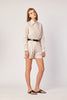 Tailored Shorts - Tan Stripe