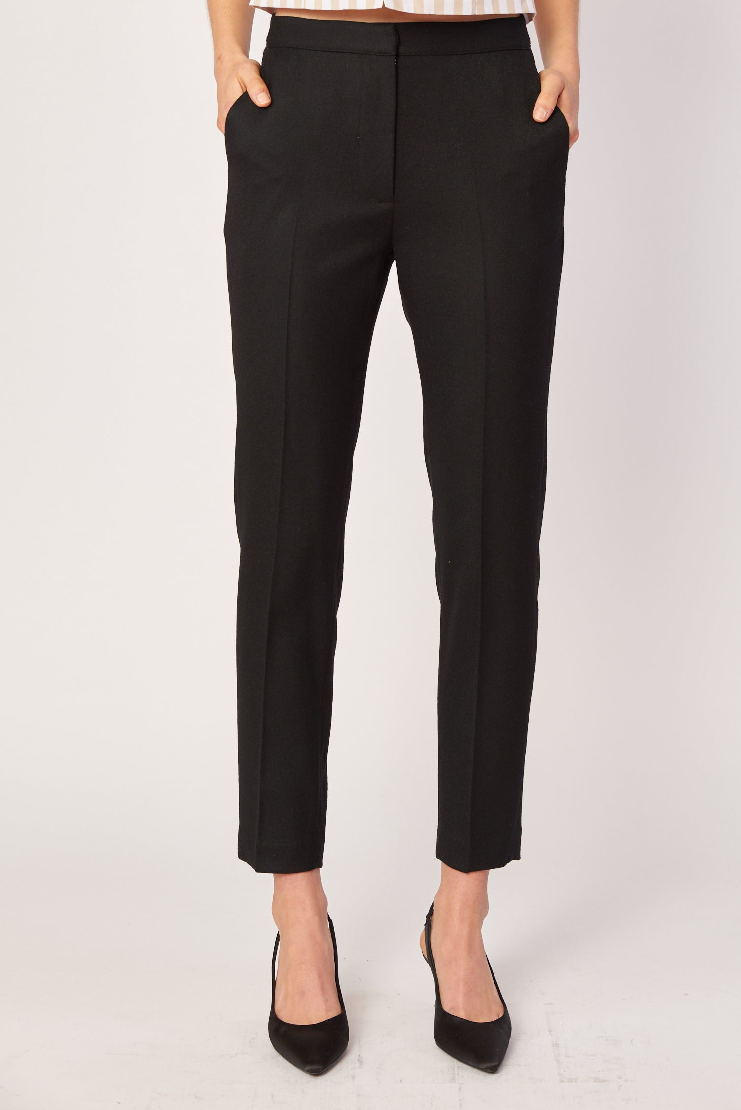 Slim Trouser - Black Wool