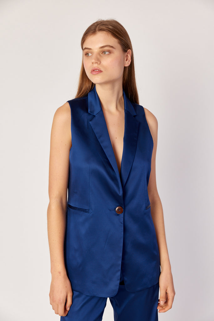 Valentina Vest- Royal Blue