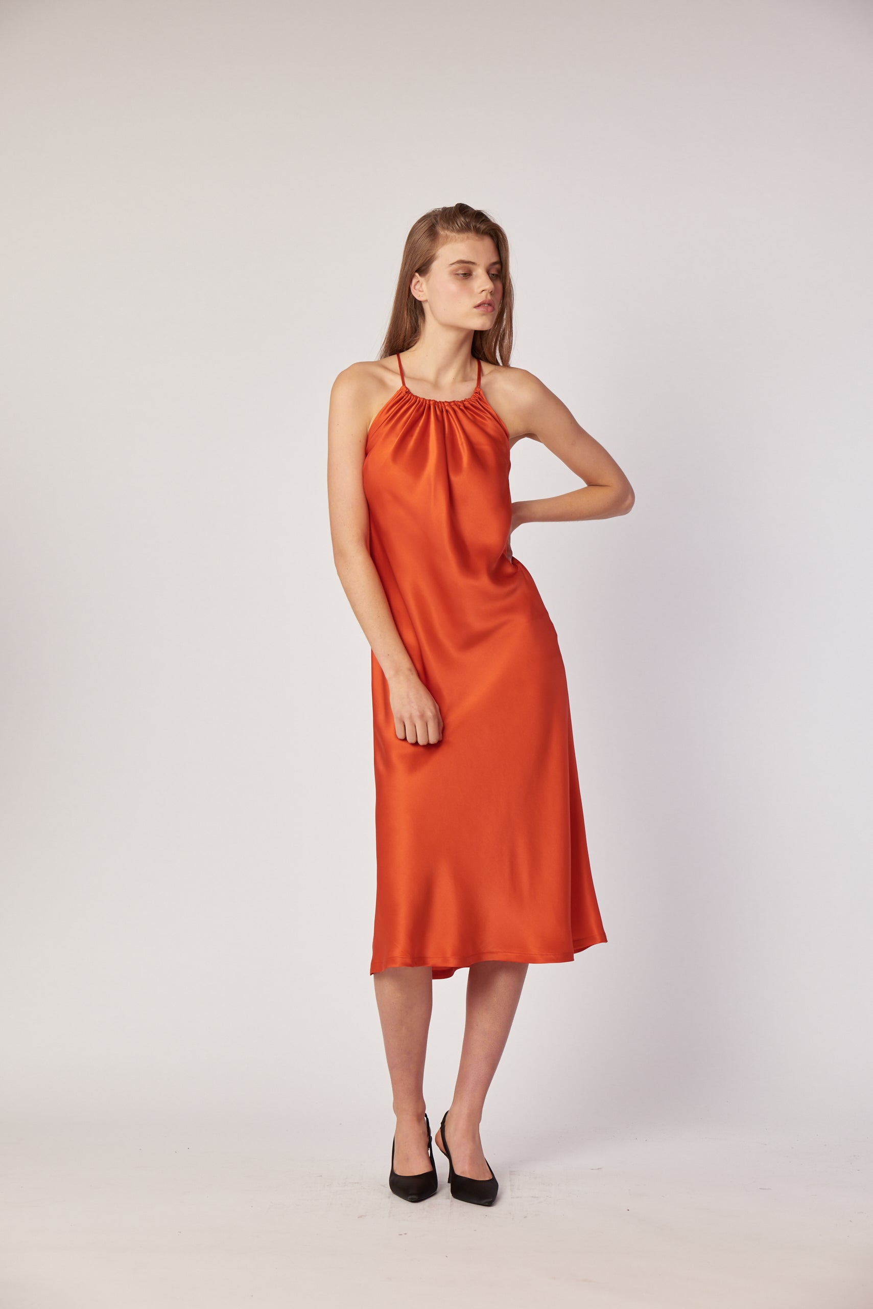 Bianca Dress- Persimmon