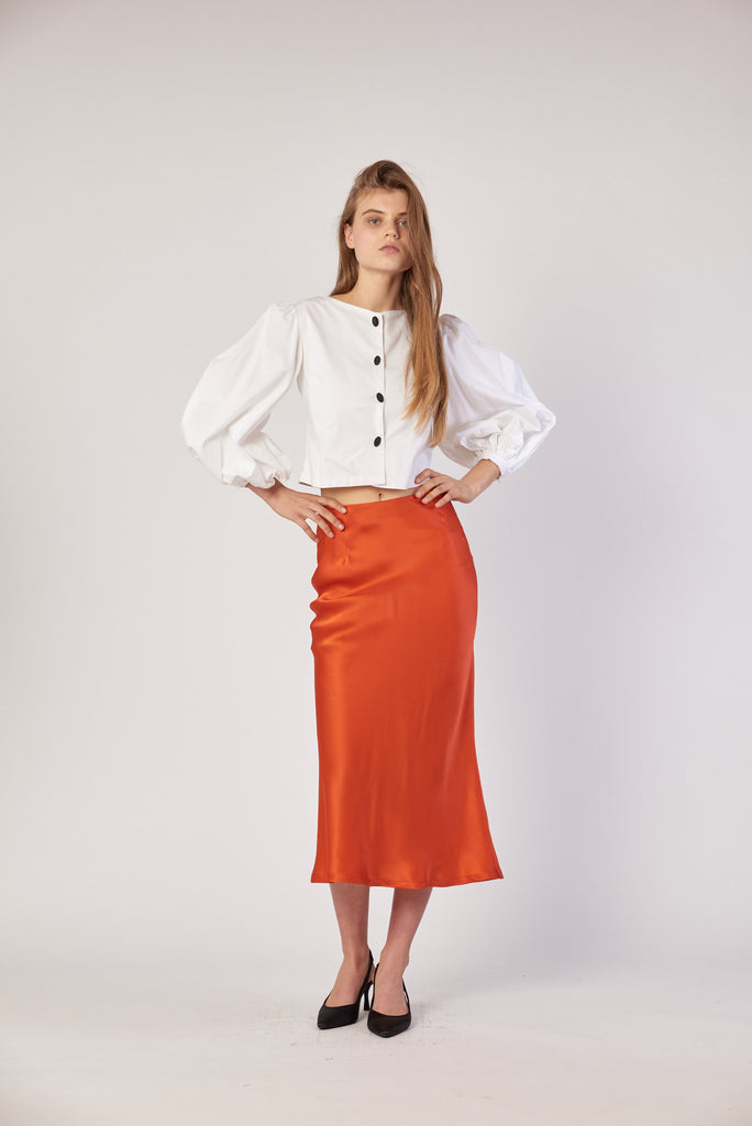Bias Skirt - Persimmon
