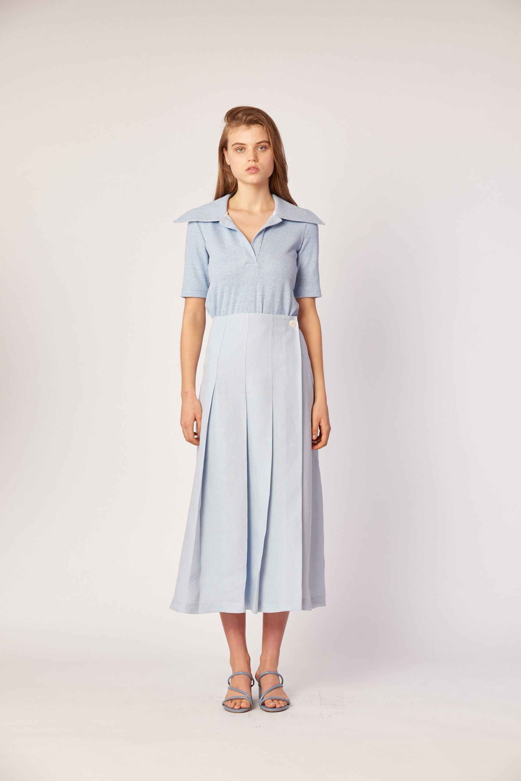 Penelope Skirt - Powder Blue