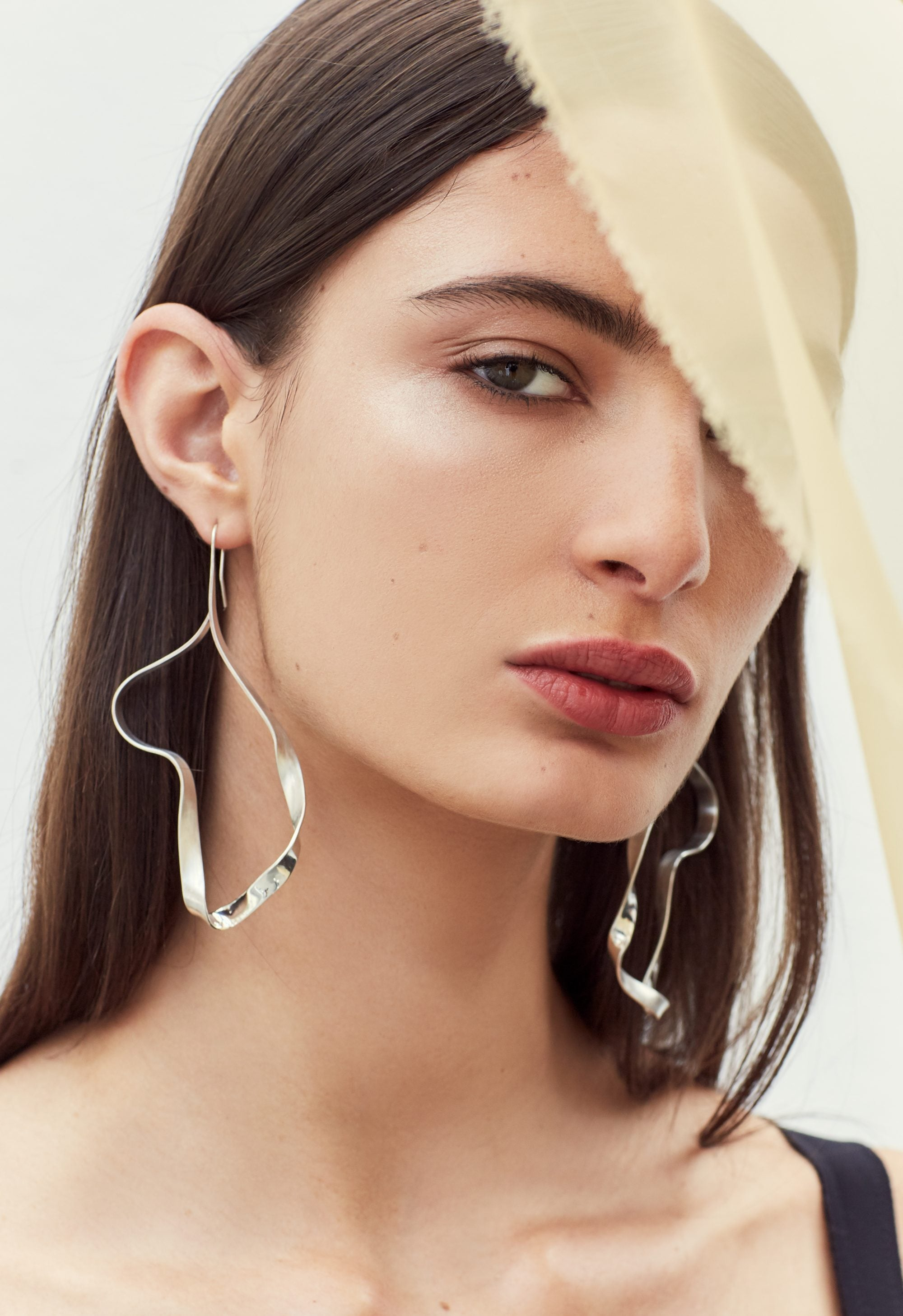 Cushla Whiting Silver Compound Twist Earrings