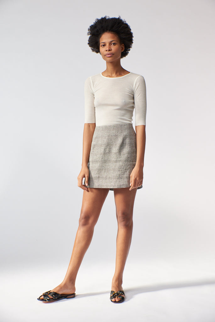 Celeste Mini Skirt - Check