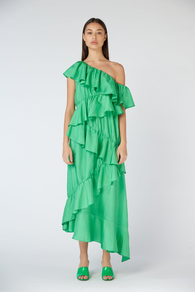 Martha Dress - Emerald