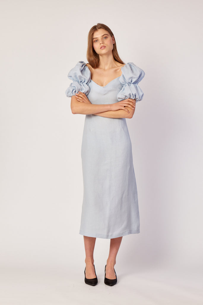 Greta Dress - Powder Blue