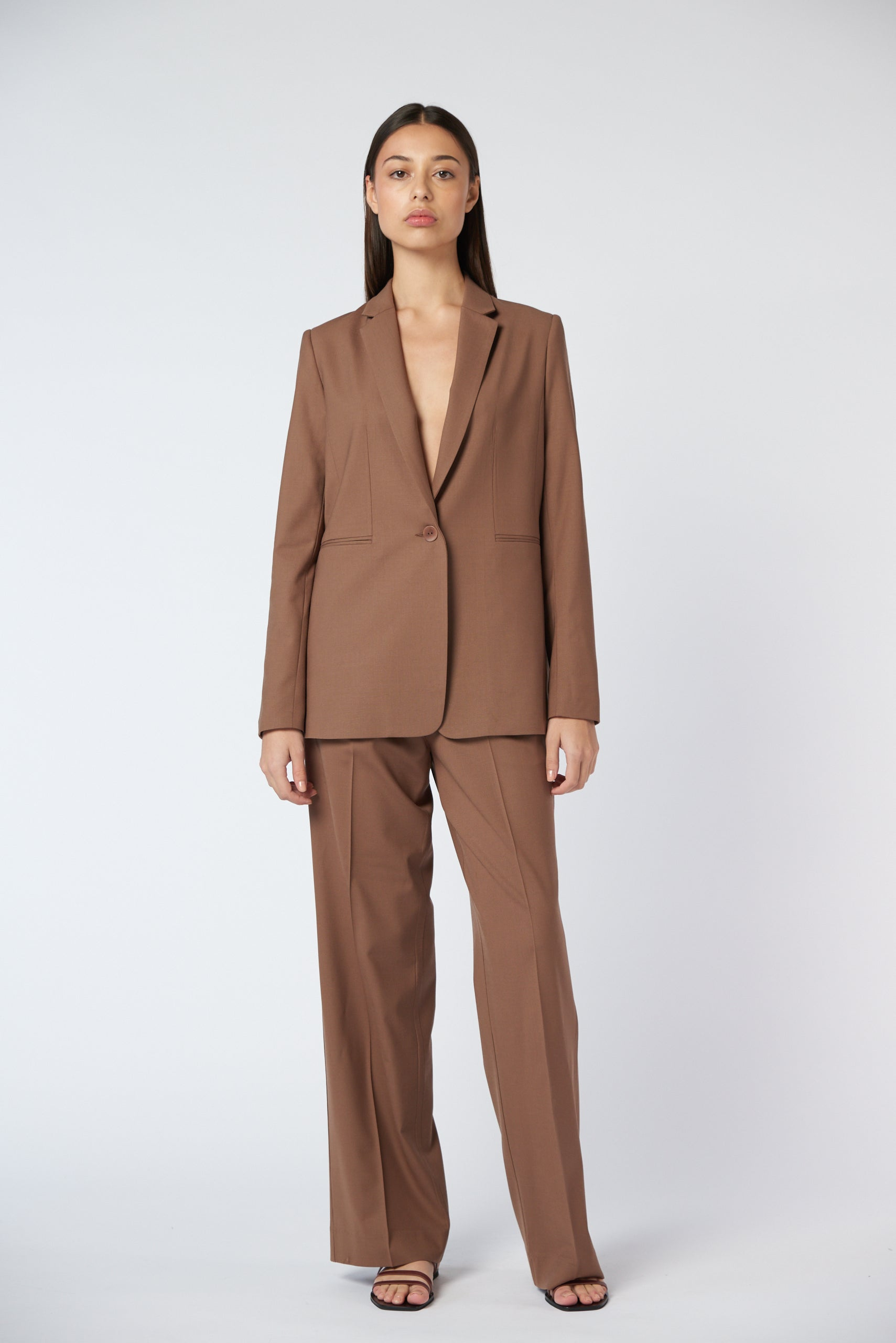 Celeste Suit Jacket - Cocoa