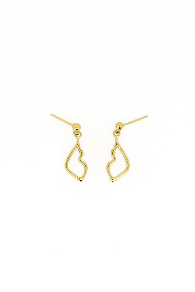 Holly Ryan Gold Kiss Droplet Earrings