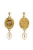 Holly Ryan Gold Picasso & Pearl Drop Earrings