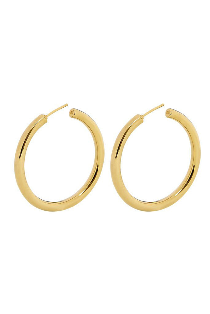 Holly Ryan Gold Tube Hoop Earrings