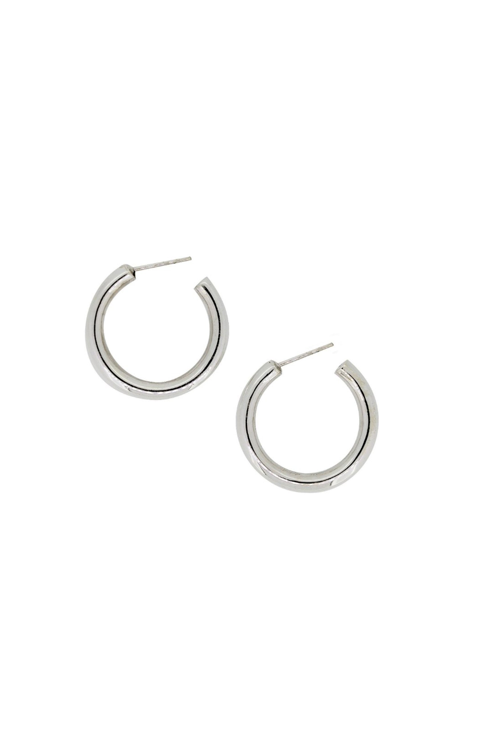 Holly Ryan Silver Mini Tube Earrings