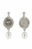 Holly Ryan Silver Picasso & Pearl Drop Earrings