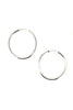 Holly Ryan Large Silver Tube Hoop Earrings