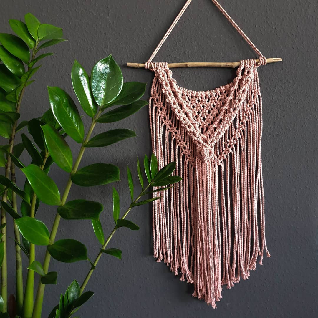 Macramé cord 3ply 3mm - Blush