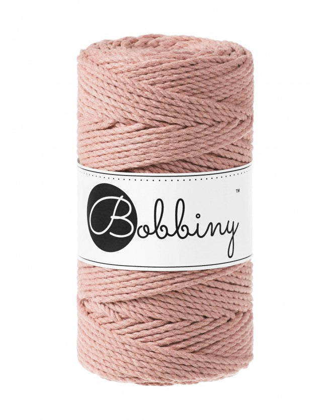 NÝTT - Macramé cord 3ply 3mm - Blush