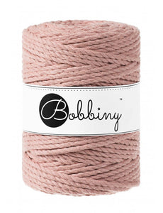 NÝTT - Macramé cord 3ply 5mm - Blush