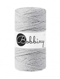 Macramé cord 3ply 3mm - Light grey