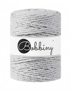 Macramé cord 3ply 5mm - Light grey