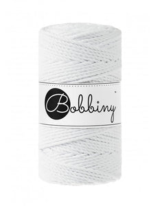 Macramé cord 3ply 3mm - White