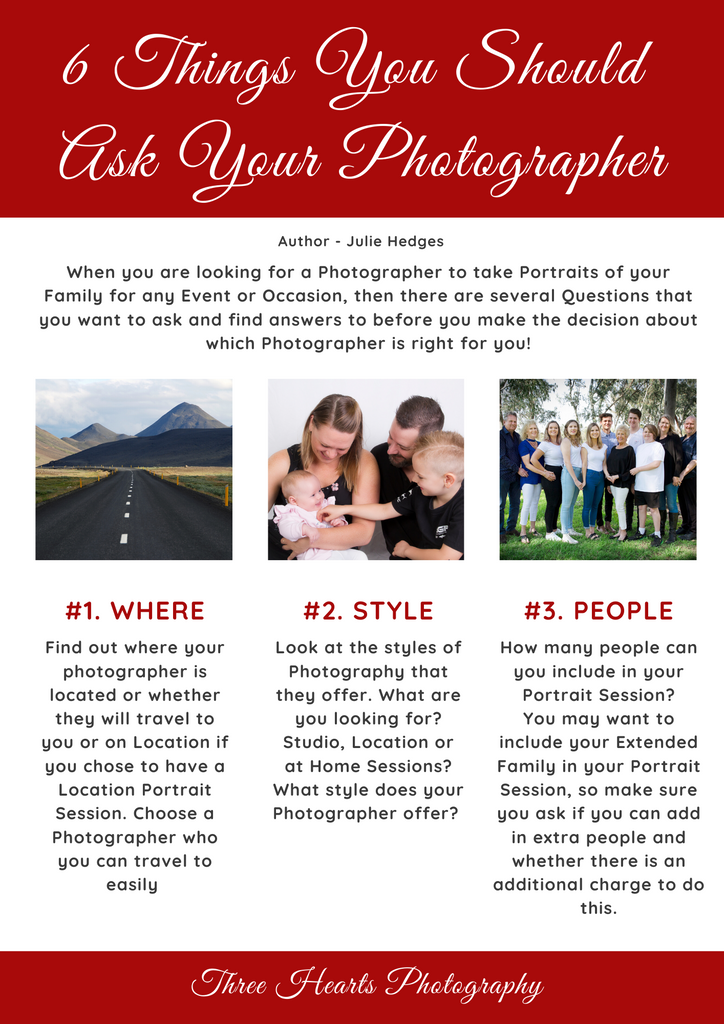 6 Things to ask your Photographer