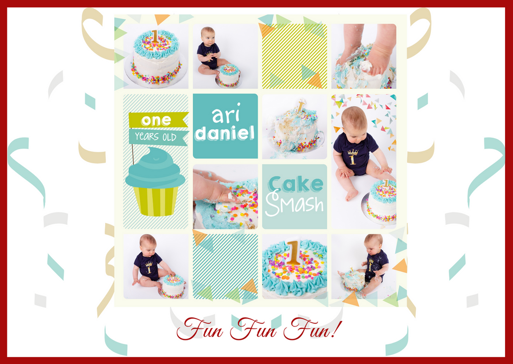 Fun Cake Smash for One Year Olds