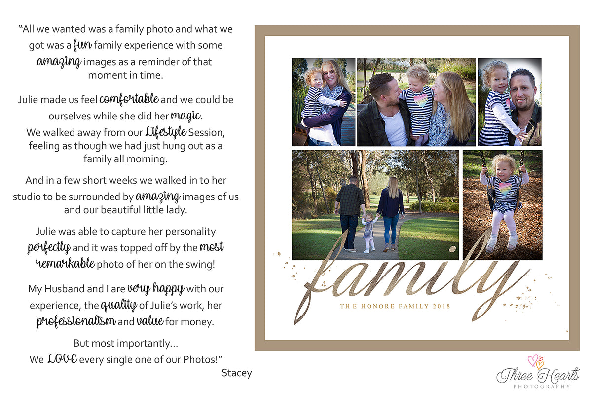 Three Hearts Photography Testimonials