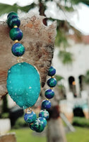 Sea Sediment Druzy Bracelet