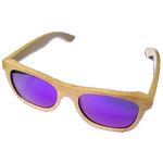 Turt Sunglasses, Sunset Palms, Bamboo, Natural with Purple Lens