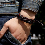 Vintage Faux Leather Bracelet Braided - Turt Life