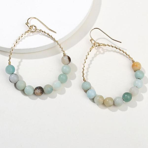 Amazonite Water Drop Earrings