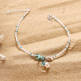 Seaside Beaded Anklet