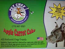 Pet Chef Cookies Apple Carrot Cake