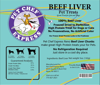 PCE Beef Liver Treats