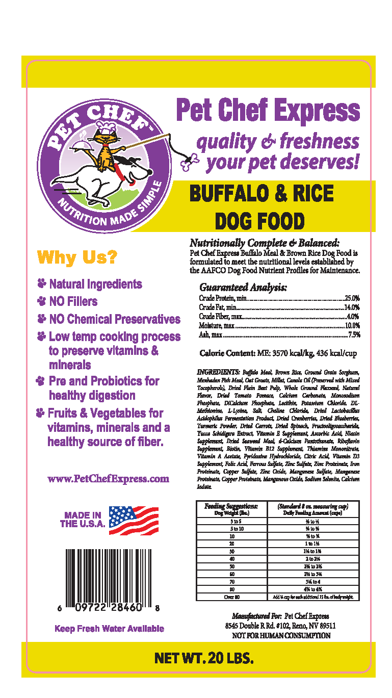 Dog Food, Buffalo & Brown Rice