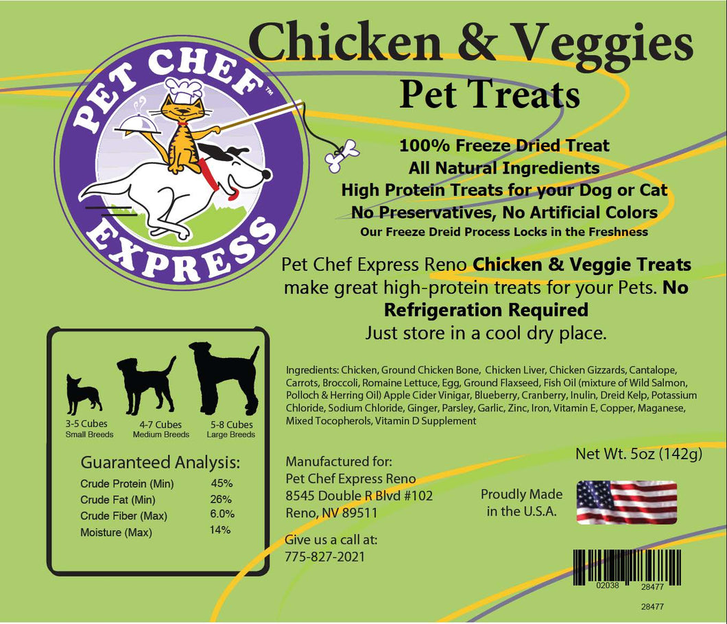 PCE Chicken & Veggies Treats (5 oz)