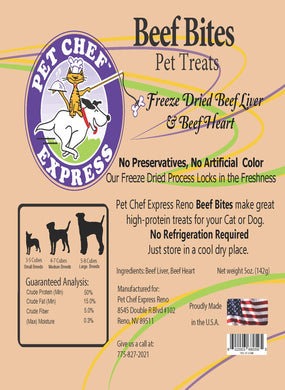 PCE Beef Bites, Liver and Hart Treats