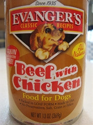 Canned Dog Food, Evanger's Beef with Chicken