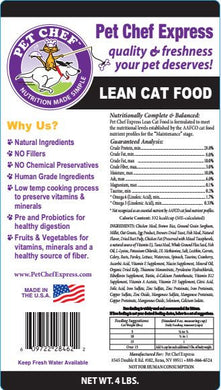 Cat Food, PCE Lean Cat Food