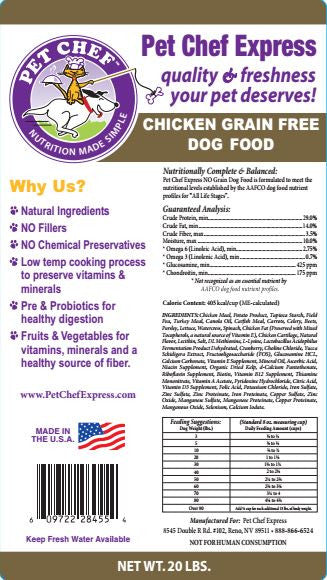 Dog Food, Grain Free Chicken Dog Food