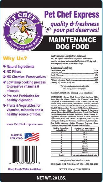 Dog Food, Maintenance Dry Dog Food