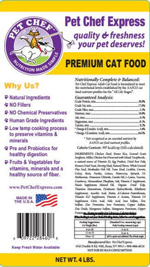 Cat Food, PCE Premium Adult Dry