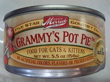 Merrick Canned Cat Food - Grammy Pot Pie a Chicken