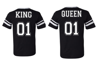 Couples King and Queen 01 Jersey Style T-shirts
